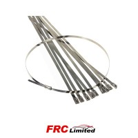 Heat Wrap 8 inch Stainless Steal Ties - 10 Pack