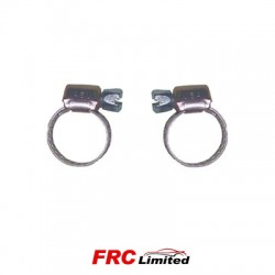 2 x Petrol Pipe Hose Clip Stainless Steel