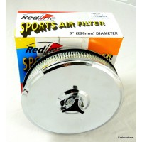 Redline Air Filter DGV/DGAV/DGAS/DGMS Retro Chrome Round 9""