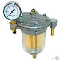 Fuel Regulator Filter King 85mm - Glass Bowl & Gauge