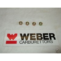 Weber 40,45 DCOE Carb Rampipe/Airhorn Stud Nuts - Set Of 4