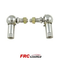 Throttle Linkage Rod Metal Ball Ends Pair With Securing Clip & Nut